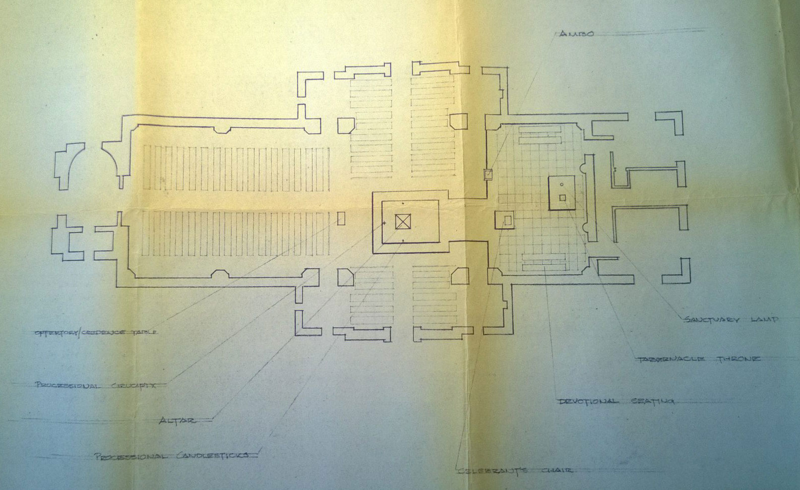 Blueprint of the Vatican II changes to the chapel